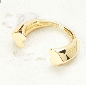 """Maje 100% brass curved heart """"nouri"""" Ring NWT"""